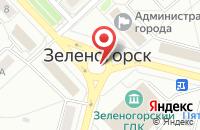 Схема проезда до компании Улица мечты в Зеленогорске
