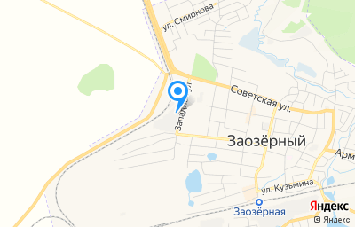 Местоположение на карте пункта техосмотра по адресу Красноярский край, Рыбинский р-н, г Заозерный, ул Западная, д 22