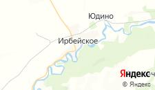 Отели города Ирбейское на карте