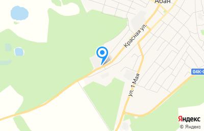 Местоположение на карте пункта техосмотра по адресу Красноярский край, п Абан, ул Красная, д 134 стр 3