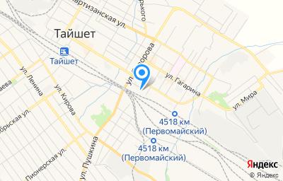 Местоположение на карте пункта техосмотра по адресу Иркутская обл, г Тайшет, ул Транспортная, д 48 стр 6