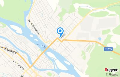 Местоположение на карте пункта техосмотра по адресу Иркутская обл, г Нижнеудинск, ул Красноармейская, д 43