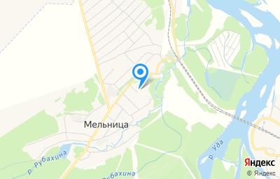 Местоположение на карте пункта техосмотра по адресу Иркутская обл, Нижнеудинский р-н, с Мельница, пер Березовый, д 2А