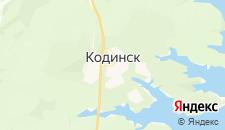 Гостиницы города Кодинск на карте