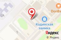 Схема проезда до компании Кодинскстройэлектромонтаж в Кодинске