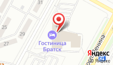 Гостиница Братск на карте