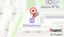 Гостиница Юбилейная на карте
