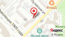 Отель Виталия на карте