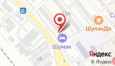 Гостиница Шумак на карте