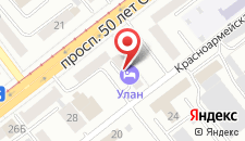 Гостиница Ulan на карте
