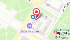 Гостиница Забайкалье на карте
