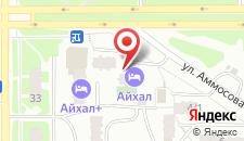 Отель Айхал на карте