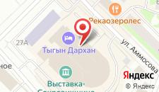 Отель Тыгын Дархан на карте