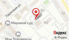 Апартаменты Парковая на карте