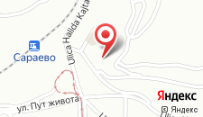 Апартаменты Miljacka Blue на карте