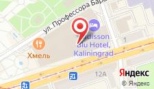 Отель Radisson Blu Hotel Kaliningrad на карте