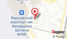 Отель Courtyard by Marriott Warsaw Airport на карте