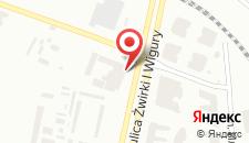 Отель Novotel Warszawa Airport на карте
