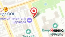 Отель InterContinental Warszawa на карте