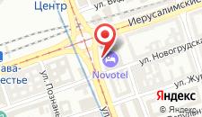 Отель Novotel Warszawa Centrum на карте