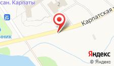 Курортный отель Карпаты на карте