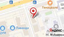 Апартаменты One-Bedroom на Советской на карте
