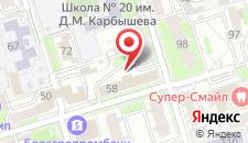 Отель Энергия на карте
