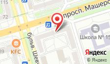 Апартаменты на Машерова на карте