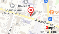 Апартаменты Карбышева на карте