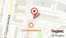 Апартаменты Flatsby Skryganova VIP на карте