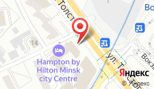 Отель Hampton by Hilton Minsk City Centre на карте