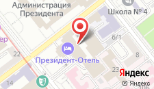 Отель Президент на карте