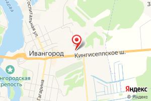 Адрес Газпром межрегионгаз Санкт-Петербург, абонентский пункт в г. Ивангород на карте