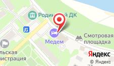 Гостиница Медем на карте
