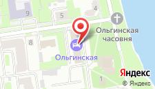 Отель Ольгинская на карте