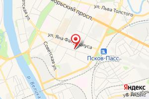 Адрес ФГУ Псковводхоз на карте