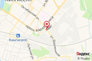 Адрес Газпром межрегионгаз Санкт-Петербург, абонентский пункт в г. Кингисепп на карте