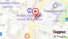 Гостиница Бобруйск на карте