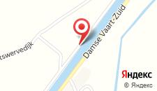 Отель Herenboer Damme на карте