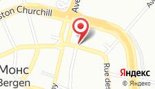 Апарт-отель Appart'hotel City Mons Centre на карте