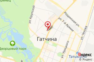 Адрес Газпром межрегионгаз Санкт-Петербург, абонентский пункт в г. Гатчина на карте