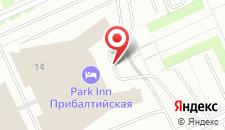 Отель Park Inn By Radisson Прибалтийская на карте