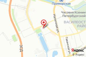 Адрес Водоканал СПб, насосная канализационная станция Василеостровская на карте