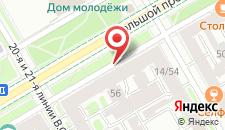 Отель Альтбург на Васильевском на карте
