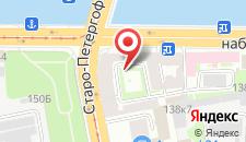 Хостел Нарвская на карте