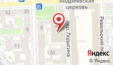 Отель Наследие на Рижском на карте