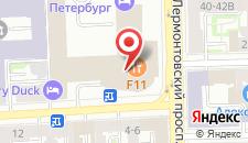 Отель АЗИМУТ Отель Санкт-Петербург на карте