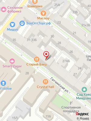 Старый Баку на карте