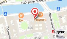 Гостиница Соло на набережной реки Мойки на карте
