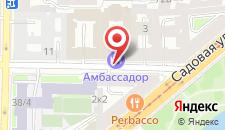 Отель Амбассадор на карте